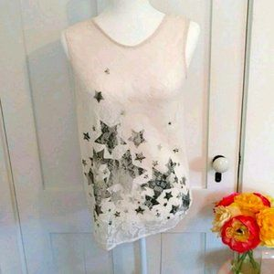 Foxxi Pullover Lace Tank Size Small